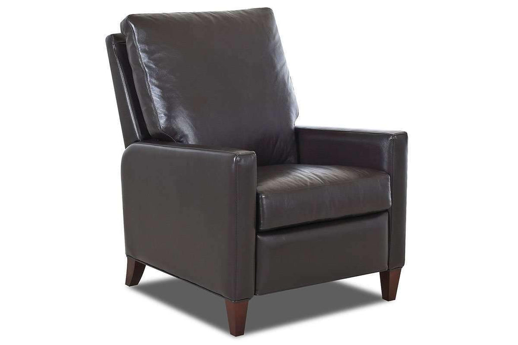 Leather Recliner Conan Small Modern Track Arm Reclining Chair ...