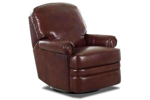 "Curtis ""Ready To Ship"" POWER Swivel / Glider Leather Recliner (Photo For Style Only)"