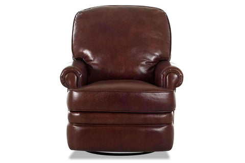 Leather Recliner Curtis Leather Reclining Pillow Back Swivel Glider Chair