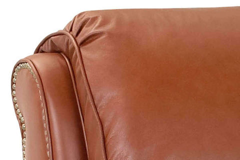 Leather Recliner Edgar Tall Leather Pillow Back Recliner Arm Chair
