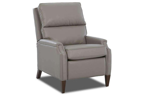 Leather Recliner Ernest Tall Bustle Back Leather Recliner