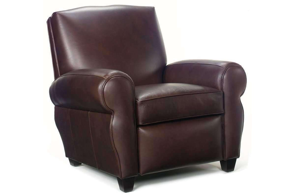 Leather Recliner Grady Leather Moustache Back Reclining Club Chair ...