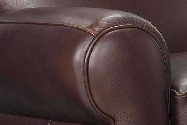 Leather Recliner Grady Leather Moustache Back Reclining Club Chair