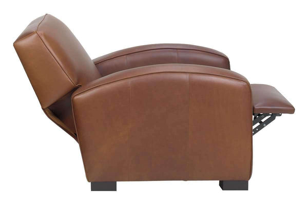 Leather Recliner Hayden Contemporary Leather Square Back Recliner Chair