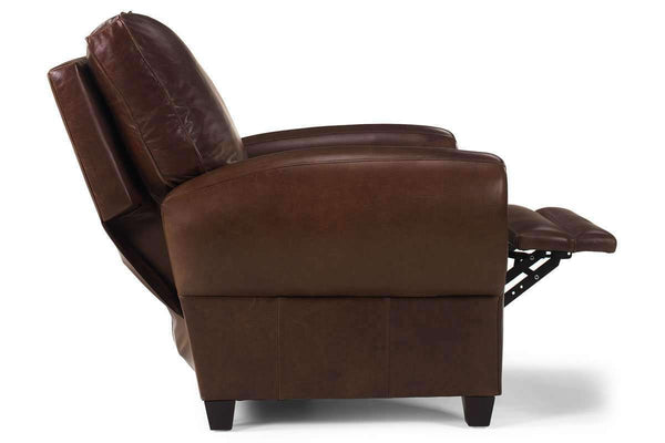 Leather Recliner Hennessey Pillow Back Cigar Club Leather Recliner