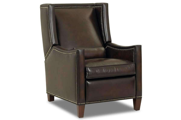 Leather Recliner Heywood Narrow Tall Leather Wingback Recliner Chair