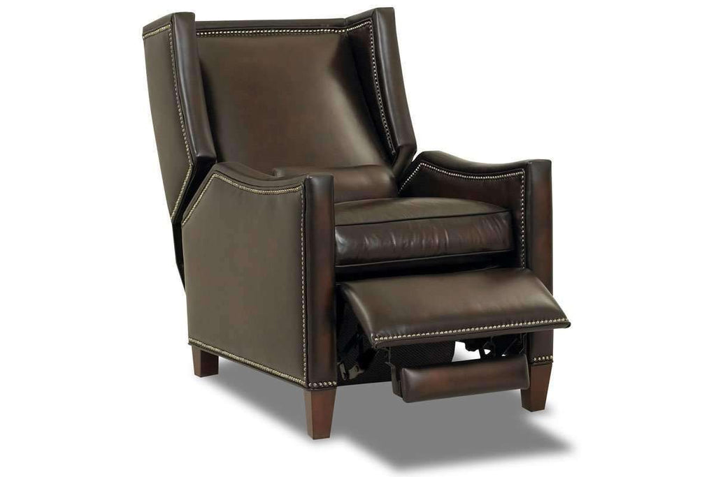 ... Leather Recliner Heywood Narrow Tall Leather Wingback Recliner Chair ...