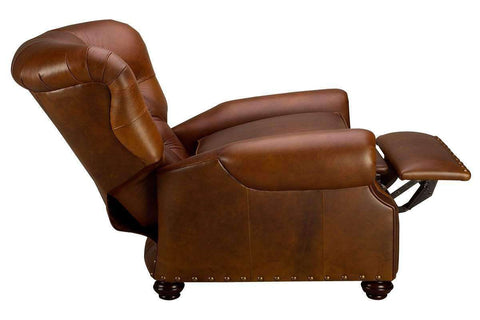 Leather Recliner Jackson Deep Button Tufted Leather Recliner