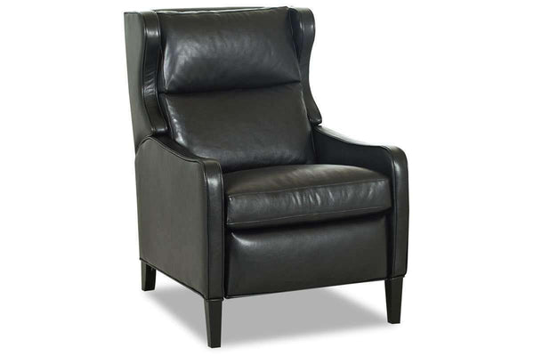 Leather Recliner Jones Tall Leather Pillow back Recliner With Track Arms