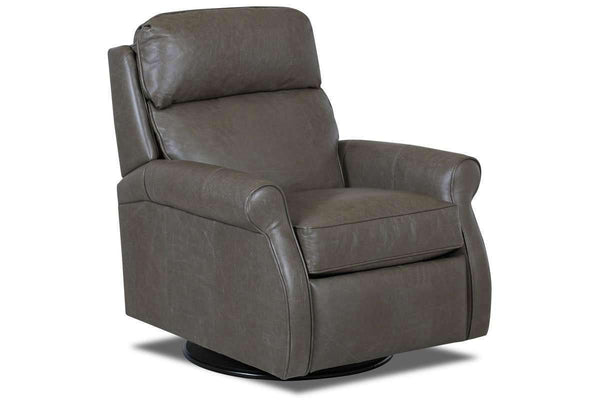 Leather Recliner Kirby Swivel Leather Pop Up Back Recliner