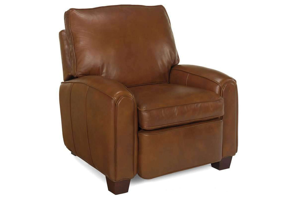 Leather Recliner Lyndon Leather Push Back Pillow Recliner ...
