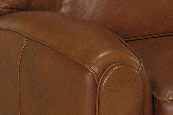 Leather Recliner Lyndon Leather Push Back Pillow Recliner