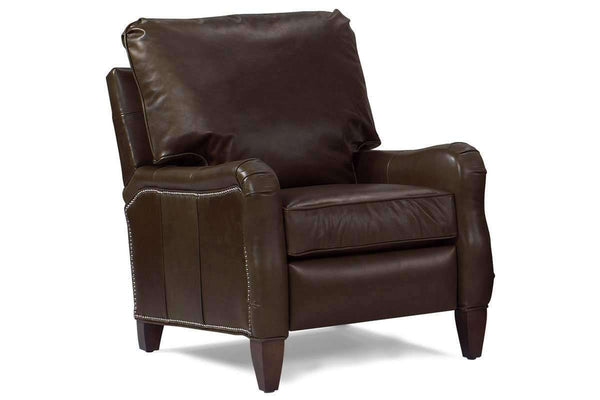 Leather Recliner Maynard Leather English Arm Pillow Back Recliner