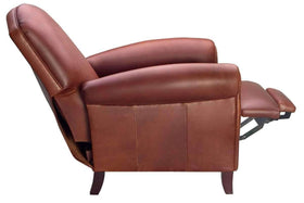 Newport Leather Reclining Chair With High Back