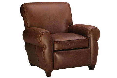 Leather Recliner Parker Tight Back Leather Club Chair Recliner