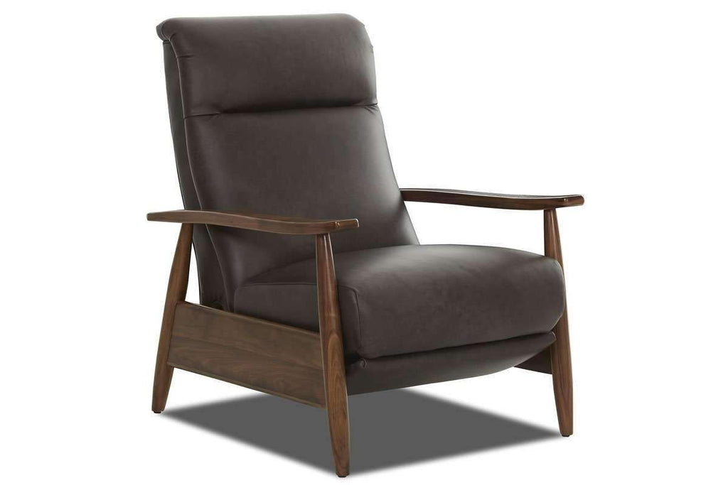 Leather Recliner Peter Mid Century Leather Tight Back Recliner ...