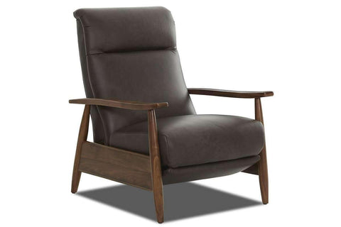 Leather Recliner Peter Mid-Century Leather Tight-back Recliner