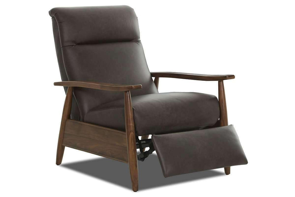 Image of: Peter Mid Century Modern Leather Recliner Chair Club Furniture