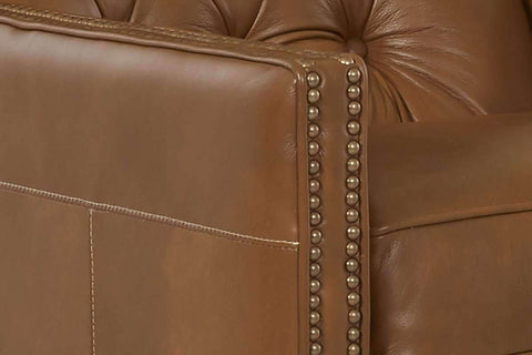 Leather Recliner Reynolds Track Arm High Tufted Back Leather Recliner