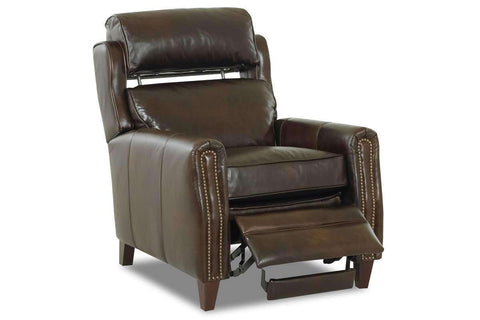 Leather Recliner Ridley Leather Bustle Back Pop Up Recliner