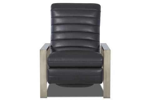 Leather Recliner Roy Polished Stainless Steel Modern Leather Recliner