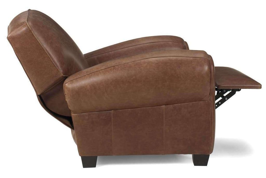 ... Leather Recliner Sebastian Traditional Leather Reclining Club Chair ...