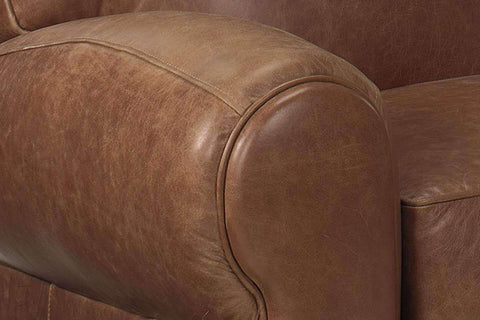 Leather Recliner Sebastian Traditional Leather Reclining Club Chair