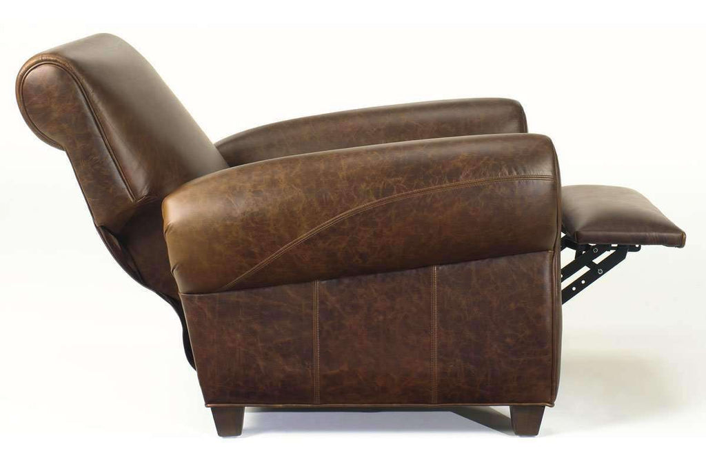 Picture of: Tribeca Distressed Leather Recliner Rustic Vintage Style Recliner Club Furniture