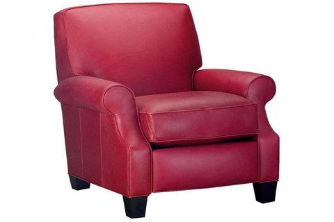 Leather Recliner Tyler Leather Square Back Recliner