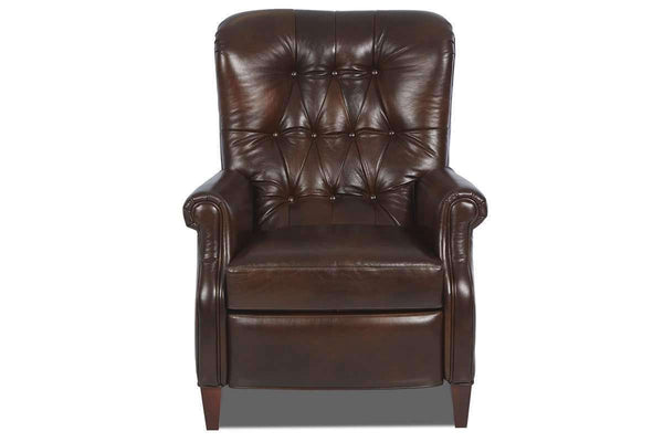 Leather Recliner Wentworth Tufted Leather Reclining Chair