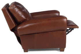 Weston Rustic Leather Pillow Back Recliner With Nails
