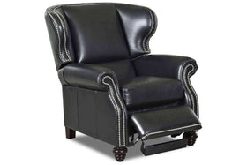 Windsor Leather Wingback Recliner With Nail Trim