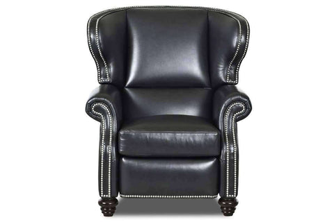 Leather Recliner Windsor Leather Wingback Recliner With Nail Trim