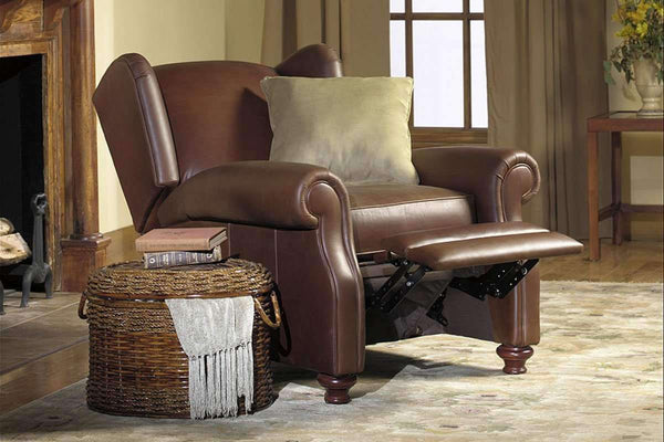 Leather Recliner Winston Leather Wingback Recliner Chair