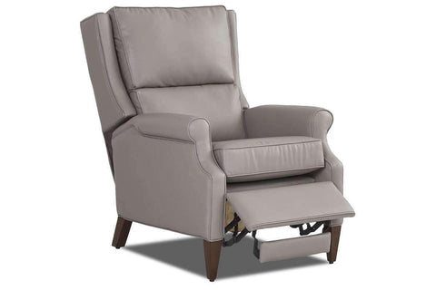 Leather Recliner Wright Tall Bustle Back Leather Recliner