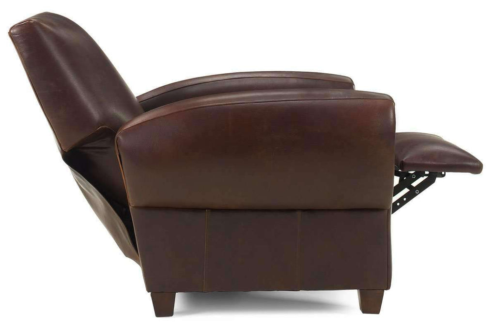 Amazing Zachary Leather Reclining Tight Back Cigar Club Chair Bralicious Painted Fabric Chair Ideas Braliciousco