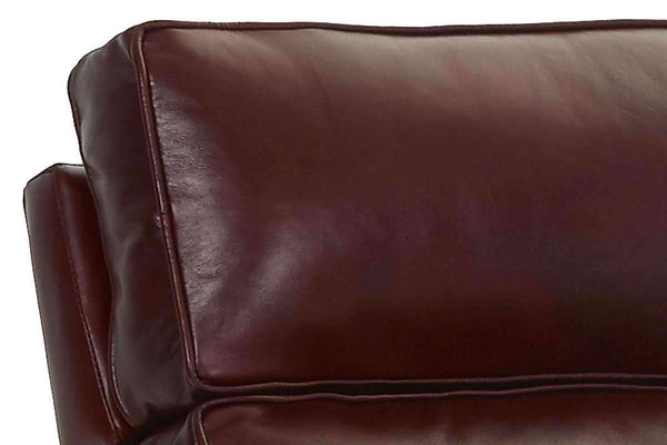 Leather Recliner Zane English Arm Leather Recliner With Pop-Up Headrest