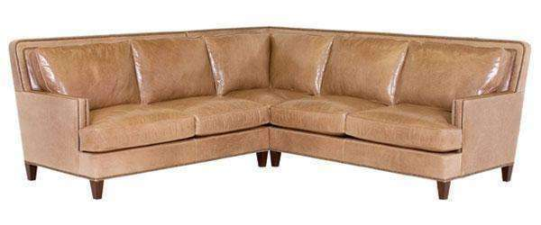 "Leather Sectional Sofa Desmond ""Designer Style"" Contemporary Leather Sectional Sofa (As Configured)"