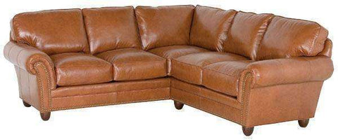 "Leather Sectional Sofa Raymond ""Designer Style"" Sectional Sofa (As Configured)"