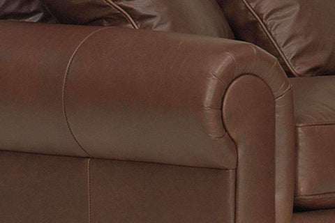 Leather Sectional Sofa Sheffield Three Piece Deep Seated Leather Sectional Sofa (As Configured)