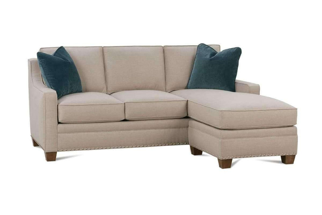 Addison designer style apartment size sofa with reversible chaise - Apartment size living room furniture ...
