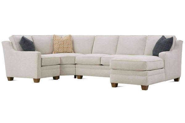 "Living Room Addison ""Designer Style"" Small Scale Apartment Size Sectional"