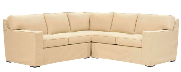Living Room Alana Slipcovered Contemporary Track Arm Sectional