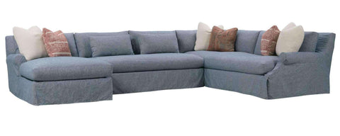 Living Room Calista Cloud Comfort Grand Scale Bench Seat Sectional