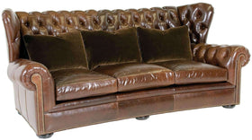 "Living Room Carmichael ""Designer Style"" Wingback Chesterfield Sofa"