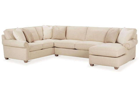 "Living Room Ellie ""Designer Style"" Comfort Deep Seated Fabric Sectional"