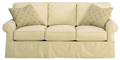 "Living Room Emily ""Designer Style"" Faux Slipcover Lifestyle Sofa Collection"