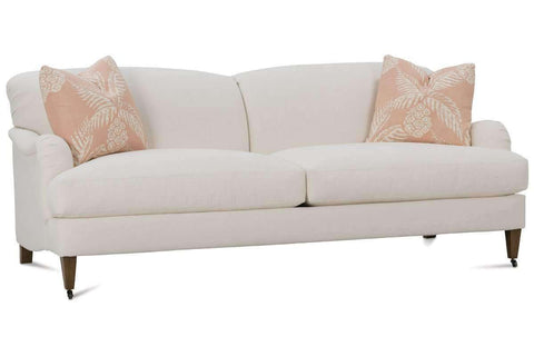 "Living Room Essie ""Designer Style"" Tight Back English Arm Fabric Sofa Collection"