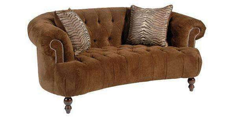 Living Room Gwyneth Tufted Love Seat And Sofa Furniture Collection