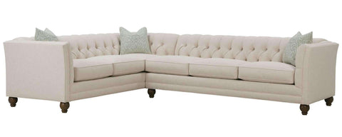 "Living Room Isadore ""Designer Style"" Tufted Back Fabric Sectional"